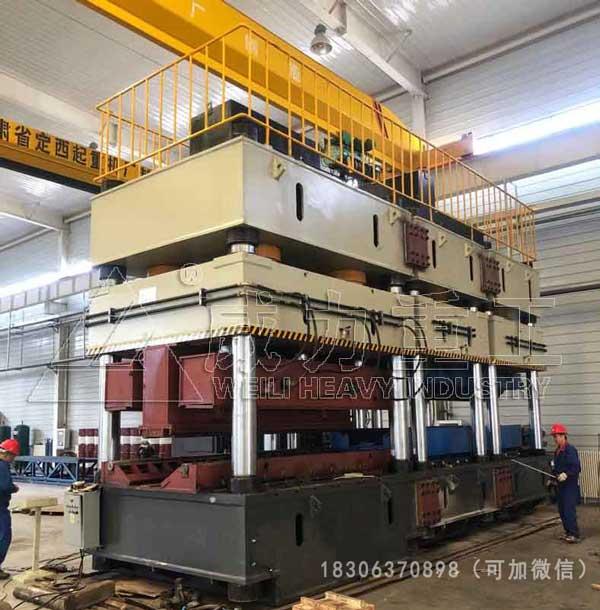 冷压成型桥梁波形钢腹板液压机3600吨压力机