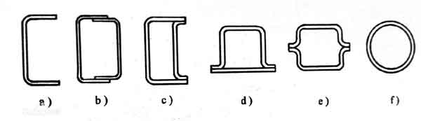 汽车纵梁的抛面形状